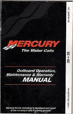 2002 MERCURY MARINE OUTBOARD 20 & 25 HP OPERATOR MANUAL 90