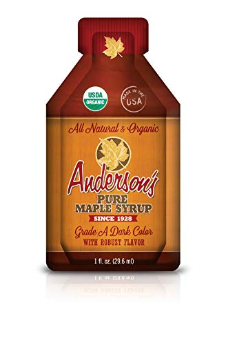 Andersons Maple Syrup Pure Single Serve Gel Pack, 24Count