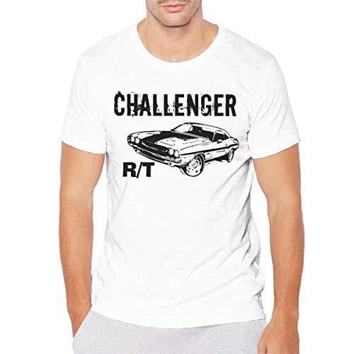 GLleaf Mens Vintage 1970 Dodge Challenger RT T Shirt 3XL White