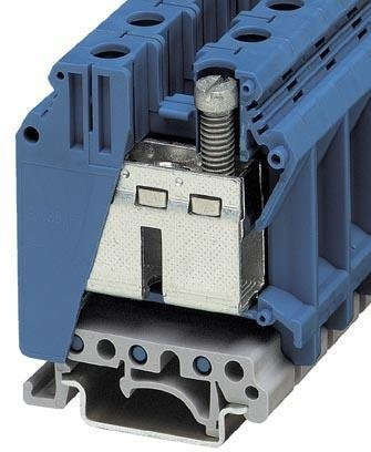 DIN Rail Terminal Blocks UK 35 BU 15 2mm FEEDTHRU BLUE