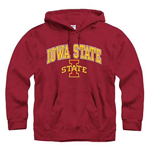 Iowa State Cyclones Game - Campus Colors Iowa State Cyclones Arch & Logo Gameday Hooded Sweatshirt - Cardinal, X-Large