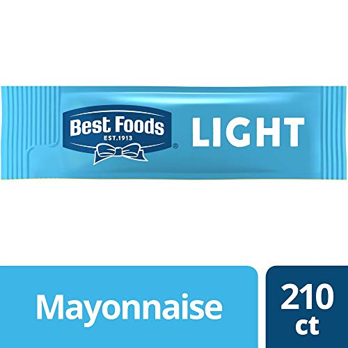 Best Foods Mayonnaise Stick Packets Light 0.38 oz, Pack of 210 ()