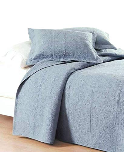 C&F Home Matelasse Cotton Quilt, King, Colonial Blue (shams not included)