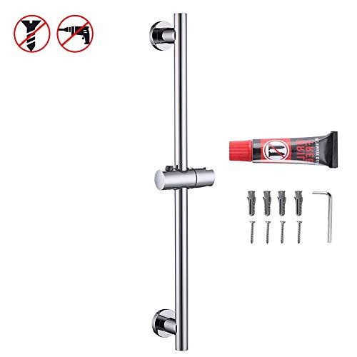 KES Shower Slide Bar for Bathroom with Adjustable Handheld Shower Holder Wall Mount Polished SUS 304 Stainless Steel, F204DG-PS