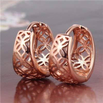 - Fashion Infinity Women Earrings Brand Gold Color Earring Vintage Hollow Fancy Hoop Earring Xue403