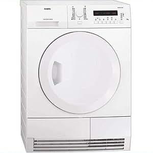 AEG T75470AH Independiente Carga frontal 7kg A Color blanco - Secadora (Independiente, Carga frontal, Condensación, A, Color blanco, Botones)