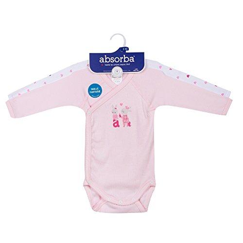 32 Rose Underwear antico di Absorba Body rosa Essentials 2 Lotto neonato vnTaw