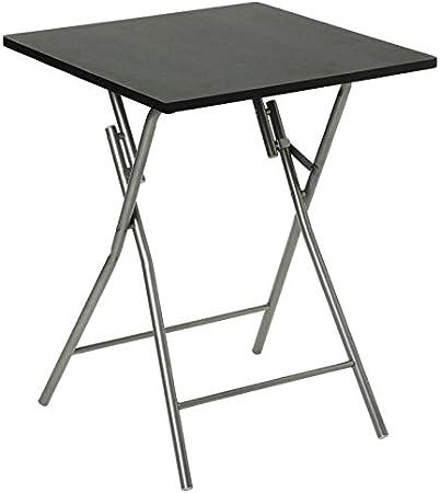 Table Pliante 75cm Basic Noir Amazon Fr Cuisine Maison