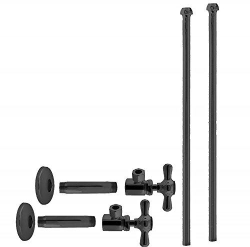 - Westbrass Bullnose Faucet Kit with Cross Handles, 1/2
