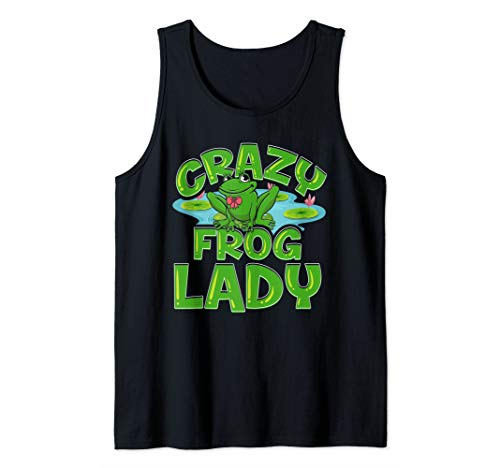 Crazy Frog Lady Lover Gift For Women Girls Tank Top