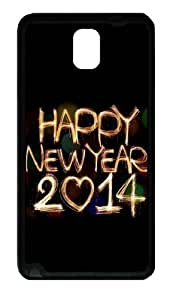 2014 Happy New Year Light Painting Bokeh Custom Designer Iphone 5/5S - TPU - Black