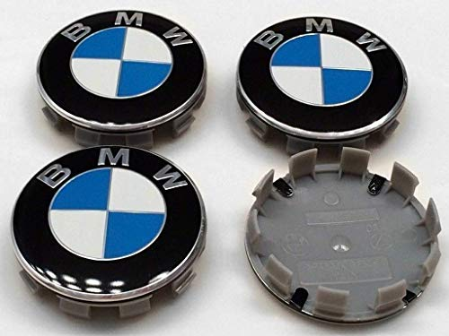 Cear bics Set of 4 Pieces 68mm Center Wheel Hub Caps for BMW - Applicable to BMW All Models Wheel Center Caps Emblem (Bmw Center Caps)