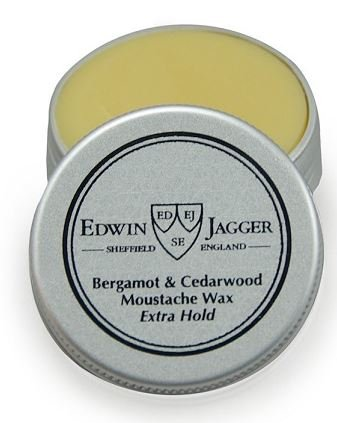 EDWIN JAGGER MOUSTACHE WAX EXTRA HOLD – BERGAMOT & CEDARWOOD – 15ML / .5 OZ