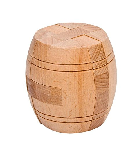 Wood Dice Psyche - Beech Classical Educational Toy Barrel Type Ming Lock - Mentality Mental Capacity Encephalon Square Block Genius Third Power Wit Learning Ability Awkward - 1PCs by Unknown (Image #3)