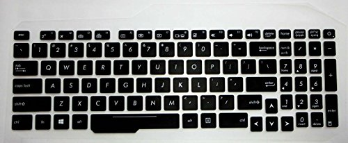 Saco Silicon Protector Keyboard Skin Cover For Asus FX553VD DM483 15.6 inch Laptop  Black