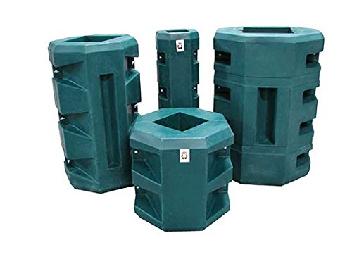 100% Recycled ''Green'' Material Slim Structural Column Protectors - BVBS-GRN Series; Inside Opening: 4'' Square; Outside Width: 12''; Overall Height: 42''; Capacity (LBS): 7000 @ 6 MPH by Beacon World Class Products