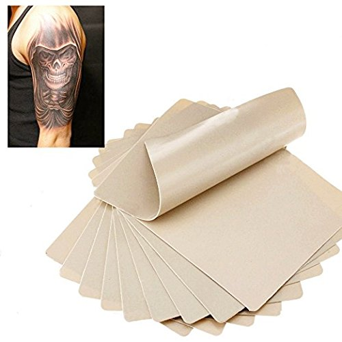 Blank Tattoo Skin Practice - Yuelong 10pcs Double Sides 8x6 Tattooing Microblading Practice Skin for Beginners and Experienced Tattoo Artists for Tattoo Kit,Tattoo Ink,Tattoo Machine,Tattoo Supplies by Yuelong (Image #4)
