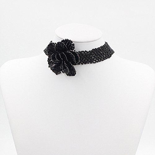 Seed Beaded Pattern, Flower Beaded Pendant Choker Necklace Beaded Choker Pattern