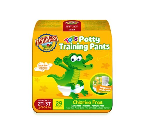 Earth's Best Tots, Chlorine-Free Potty Training Pants, Size 2T-3T, 29 Count Chlorine Free Training Pants