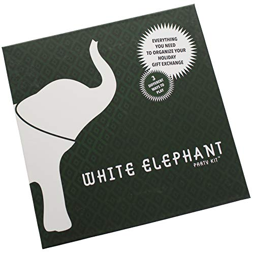 White Elephant Party Kit - The Best Gift to Organize The Gift Exchange Game with The Worst Gifts