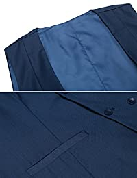 Hotouch - Chaleco sin mangas para hombre, corte ajustado, informal, chaleco sólido para hombre, chaleco formal