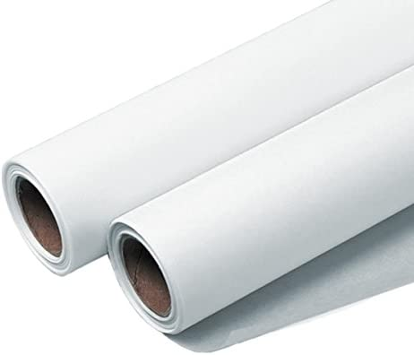37801 White Helix Paper Roll Sketch 12 Inches x 50 Yards White