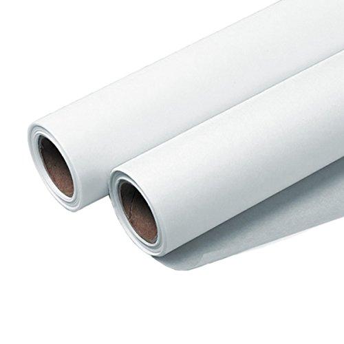 Sketch Roll Bundle - 6 Rolls of Seth Cole 14''x 50 Yards 8lb White Sketch Paper (55W) by Dataprint