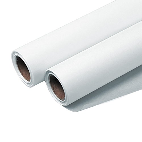 Sketch Roll Bundle - 6 Rolls of Seth Cole 12''x 50 Yards 8lb White Sketch Paper (55W) by Dataprint