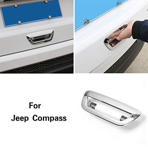 ABS Plastic Tail Gate Door Handle Cover Trim for Jeep Compass 2017 2018 - Chrome Abs Trim