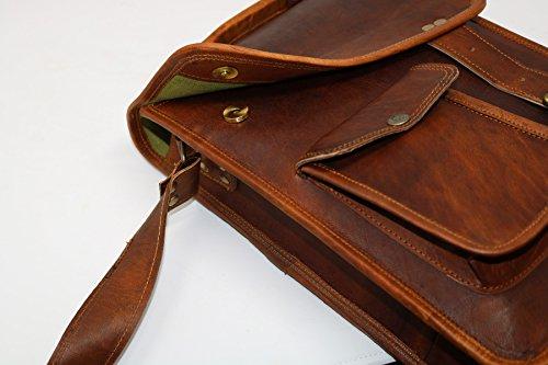 50dda02b23 PV-Stylish Men s Genuine Distressed Leather Brown Shoulder Messenger  Passport Bag Murse Sling Bag Leather