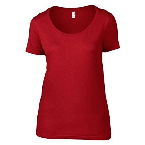 Anvil - Camiseta - para mujer Rosso