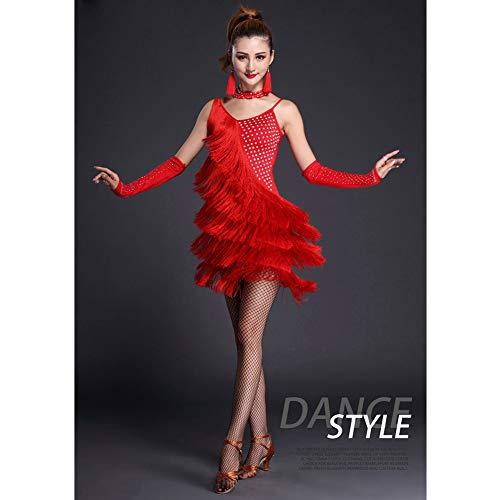 2821a61b6b37 Palcoscenico Vestito Concorrenza Costumi Latino Danza Festa Elegante Adulto  Xhtw Impostato amp b Gonna Flessibile Donna Red Abiti TJlKcF13