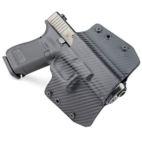 OWB Holster - Black Carbon Fiber (Right-Hand, Glock 17,19,22,23,25,26,27,28,31,32,34,35,41 (19X,17,19,26 Gen5)