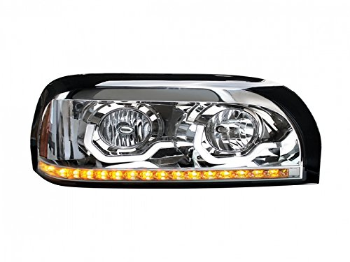 Chrome Freightliner Century Projection Headlight - Passenger Side