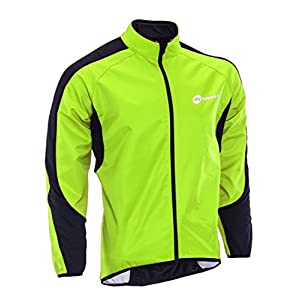 Cycling Jacket Winter Windproof Jackets Men Fleece Bicycle Jersey Thermal M Green