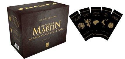 Box - As Crônicas De Gelo E Fogo - Pocket 5 Volumes Com Marcador De Pagina