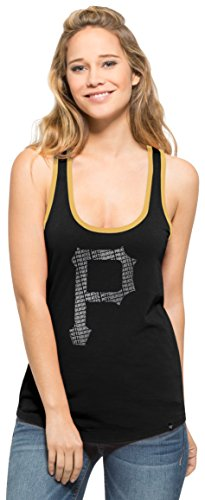 MLB Pittsburgh Pirates Women's '47 Clutch Tank Top, Large, Jet Black (Pirate Clothing For Sale)