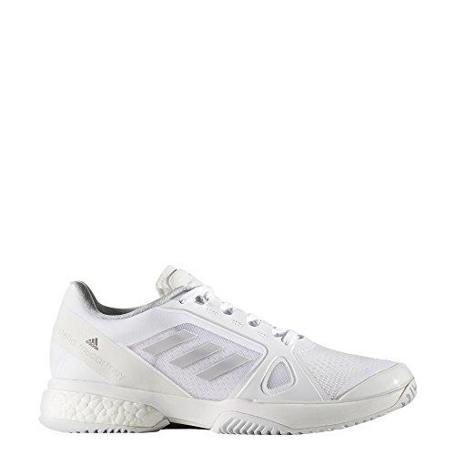 adidas By Stella Mccartney Barricade Boost 2017, Zapatillas de Tenis para Mujer Gris (Footwear White/light Grey Heathersolid Grey/night Steel)