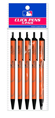 Pro Specialties Group (PSG) MLB Baltimore Orioles 5-Pack Click Pens
