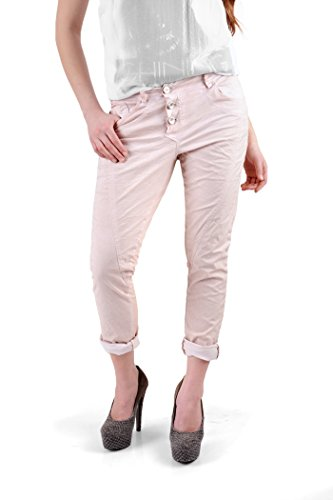 rosa & friends Damen Jeans RF14009, Gr. L, powder rosè, Boyfriend Hose (40)