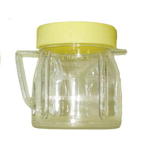 Univen 8-ounce Mini Blender Jar With Lid for Oster and Osterizer Blenders