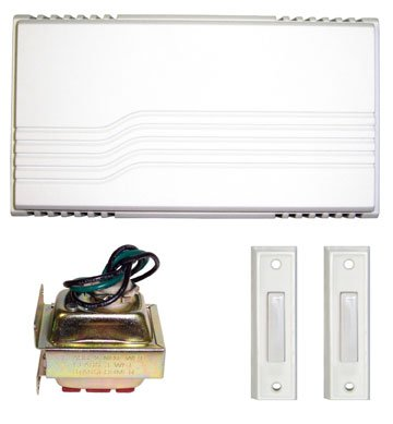 White Wired Door Chime Kit