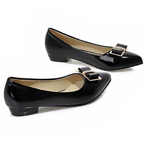 Fashion TAOFFEN Heel Low Black Women's Slip Shoes On Court HH5BxSw