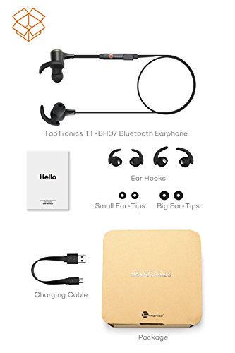 Bluetooth-Headphones-TaoTronics-Wireless-41-Magnetic-Earbuds-Snug-Fit-for-Sports-with-Built-in-Mic-TT-BH07-IPX5-Waterproof-aptX-Stereo-6-Hours-Playtime-Noise-Cancelling-Microphone