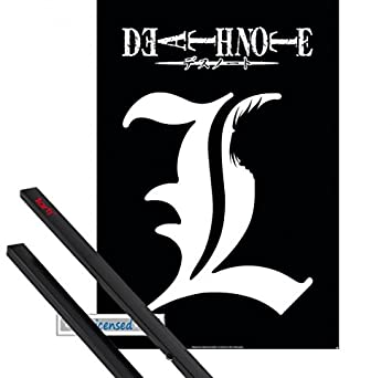 Poster Hanger Death Note Poster 39x28 Inches L Symbol And 1 Set