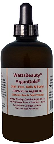 Watts Beauty ArganGold™ 1oz/100% Certified Organic Cold Pressed Argan Nut Oil for Hair & Body - Morocco
