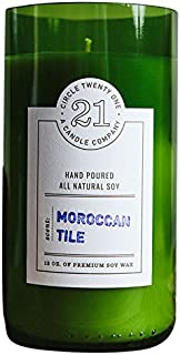 product image for Circle 21 Candles Moroccan Tile Scented Soy Candle, Green