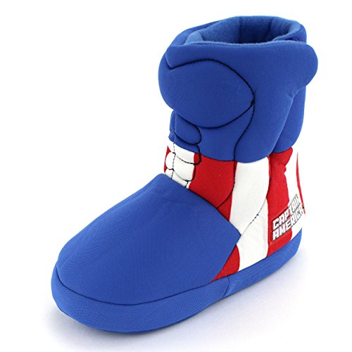 Captain America Shoes (Marvel Captain America Slipper (Little Kid/Big Kid), Blue, (Small M US Little Kid))