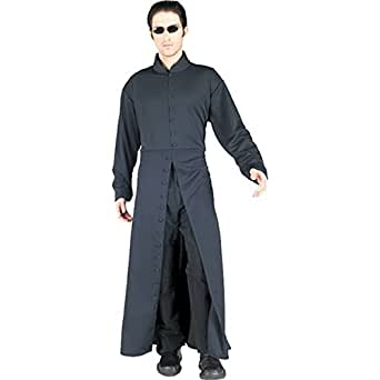 Matrix Neo Adult's Large Costume Trench Coat + Glasses