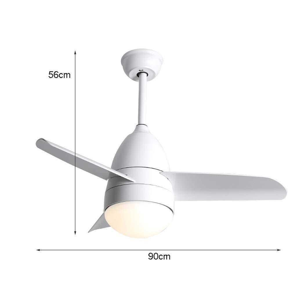 3ABS L/üfterblatt//moderner Esszimmer Wohnzimmer Fan Kronleuchter(90cm) Deckenventilator Licht mit Fernbedienung//Dimmbar//Schlafzimmer Ventilator Licht